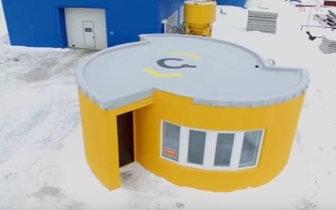 3D printed concrete house