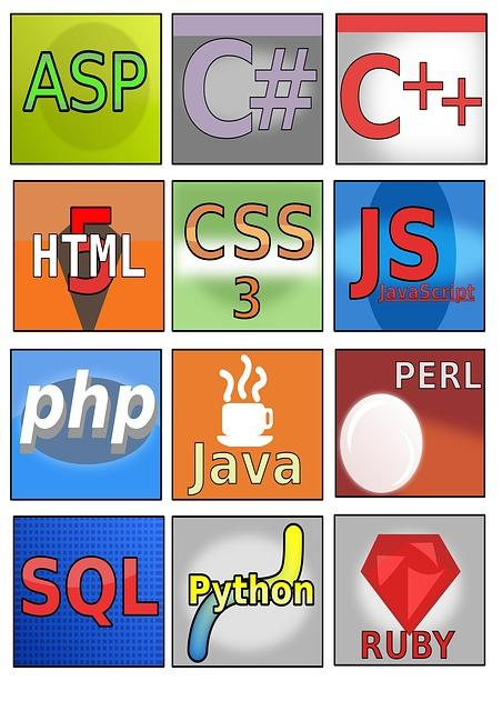 Graphics of a variety of programming languages
