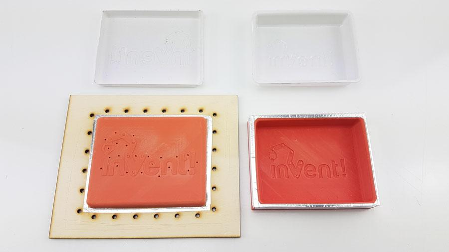 Prototype tooling and parts for Invent! packaging tray alt=