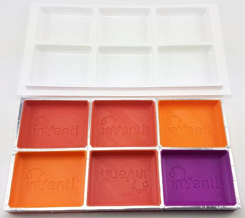 6 impression tooling for vacuum formed 3D printed trays